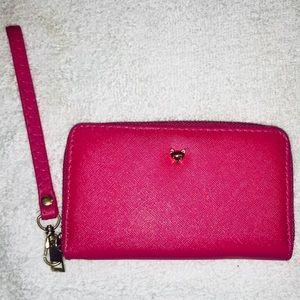 "2 Chic Hot Pink Wallet/Wristlet NWOT (8""x4"")"